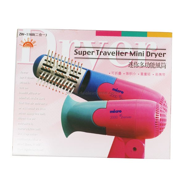 Buy Handy Hair Dryer and Comb (AC 110~220V) with Litecoins with Free Shipping on Gipsybee.com