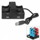 4-in-1-Charging-Dock-with-2-Port-USB-Hub-for-Nintendo-Switch-Joy-Con-Black