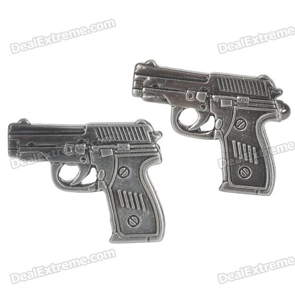 Charming Plating White Steel Cufflinks for Men - Pistol