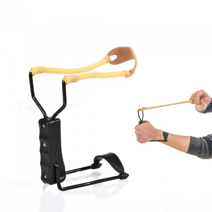 Buy High Velocity Portable Folding Wrist Sling Shot Outdoor Sports High Quality Slingshot for Practice or Hunting picture color with Litecoins with Free Shipping on Gipsybee.com