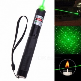 Powerful Green Laser Pointer Stars 5mw Military 532nm With Star Cap flashlight Adjustable Focus 8000-10000 Meters Black