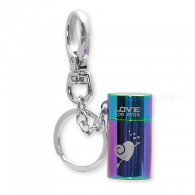 HONEST Outdoor Multifunctional Stylish Gas Lighter Gift with Key Chain - Colorful