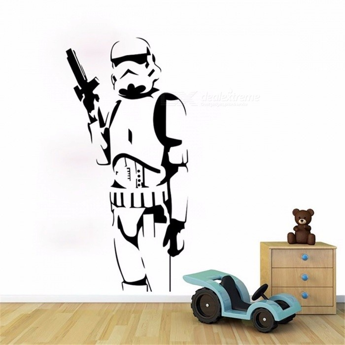 Buy DIY Cool Star Wars Character Wall Stickers Suitable for Living Room Bedroom Home Decoration Art Posters Black with Litecoins with Free Shipping on Gipsybee.com