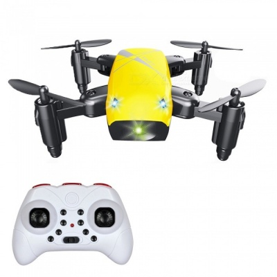 S9 RC Helicopter, 2.4G 4 Channel 6-Axis Gyro Mini Foldable Pocket Drone Quadcopter / Remote Control Toy - Yellow