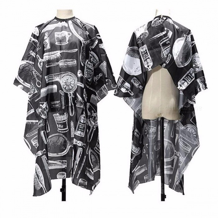 Buy New Premium Salon Barbers Hair Cutting Hairdressing Hairdresser Polyester Cape Gown Clothes for Adults  Black + White with Litecoins with Free Shipping on Gipsybee.com