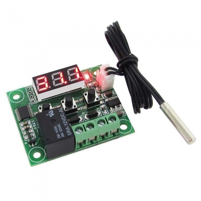 Buy Kitbon W1209 -50 to 110 Degree Digital Mini Temperature Controller Control Switch Sensor Module with Litecoins with Free Shipping on Gipsybee.com