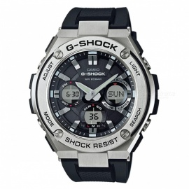 Casio G-Shock GST-S110-1A G-STEEL Series Quartz Stainless Steel and Resin Casual Watch - Silver + Black