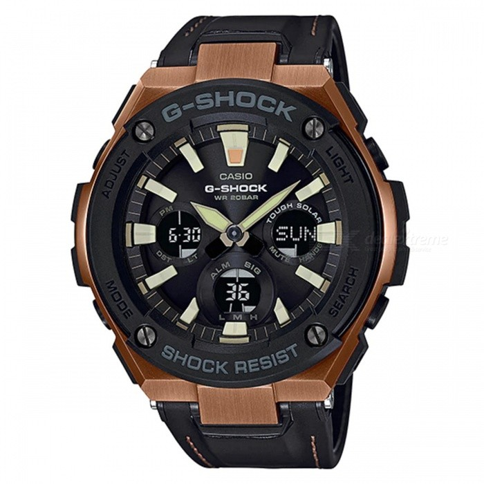 Casio G-Shock GST-S120L-1A Tough Solar Men's Watch - Black + Rose Gold