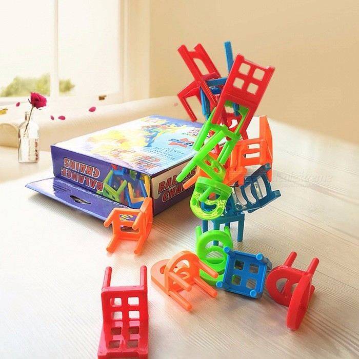 Ordinaire ... 18Pcs Environmentally Friendly ABS Plastic Mini Balance Chairs Board  Game, Educational Balance Toy Puzzle ...