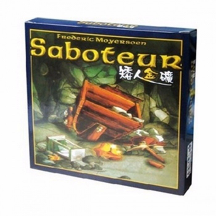 "Dx coupon: ""Saboteur"" Board Game, Jeu De Base + Extension Board Game with English Instructions for Family, Friends Saboteur 1version"