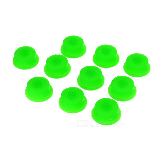 Silicone Tailcap for Flashlights (Green 10-Pack)