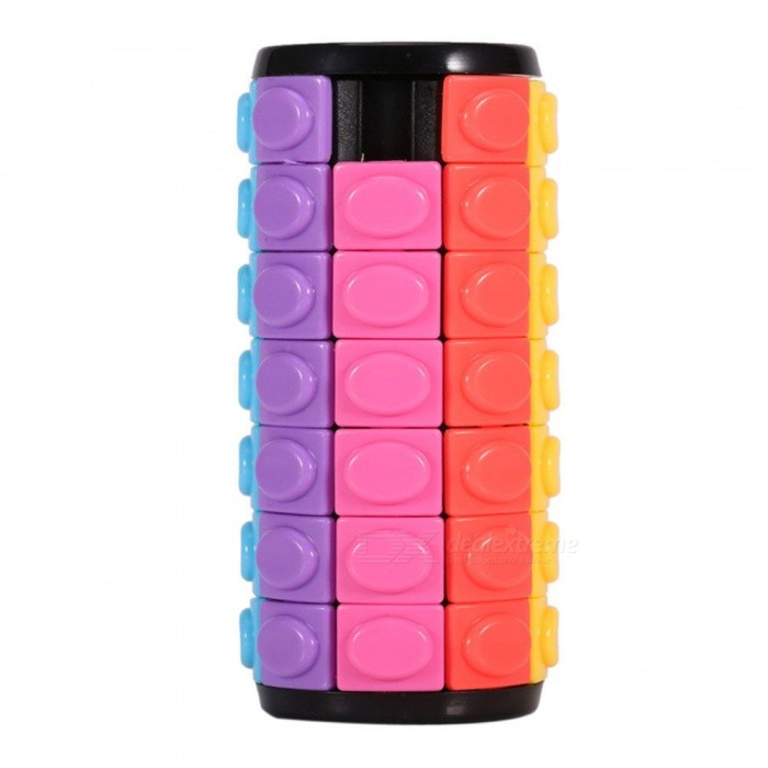 QiYi Magic Finger Cube, Cylindrical Puzzle Finger Anxiety Stress Focus Attention Fidget Toy Gift for Kids - Seven Layers