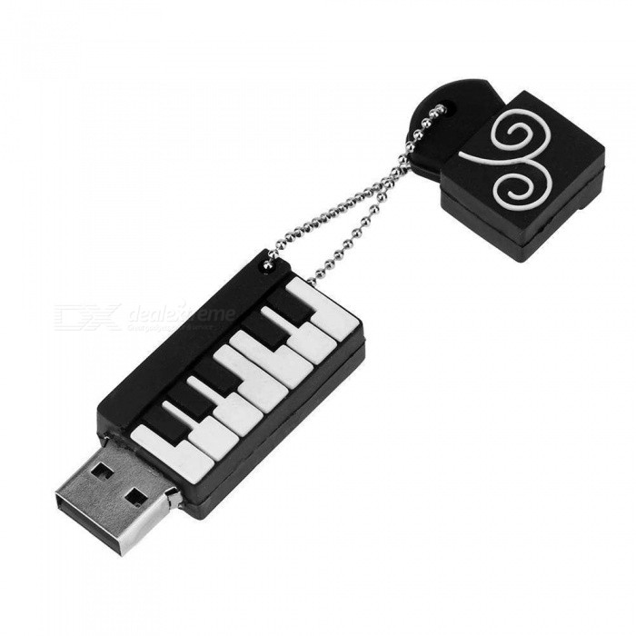 Maikou USB2.0 Port Piano Shape Silicone Shell USB Flash Disk - 16GB16GB USB Flash Drives<br>Color16GBModelMK202MaterialPVCQuantity1 pieceShade Of ColorBlackMax Read Speed6-20MbpsMax Write Speed4-8MbpsUSBUSB 2.0With IndicatorNoPacking List1 x USB Flash Disk<br>