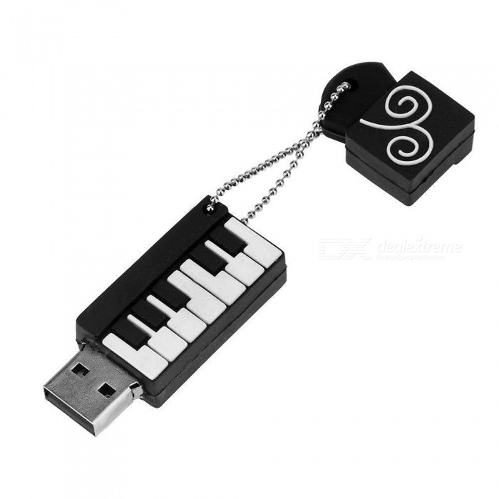 Maikou USB2.0 Port Piano Shape Silicone Shell USB Flash Disk - 64GB16GB USB Flash Drives<br>Color64GBModelMK202MaterialPVCQuantity1 pieceShade Of ColorBlackMax Read Speed6-20MbpsMax Write Speed4-8MbpsUSBUSB 2.0With IndicatorNoPacking List1 x USB Flash Disk<br>