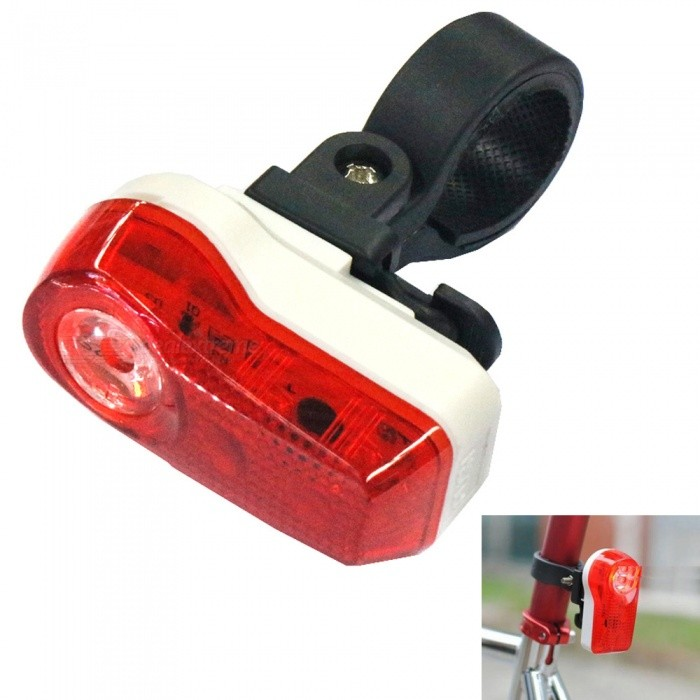 Mini 3-LED 2-Mode Red Light Bicycle Taillight - Red + WhiteBike Light<br>ColorRed + WhiteQuantity1 DX.PCM.Model.AttributeModel.UnitMaterialABSColor BINRedNumber of Emitters3Battery2 x AAA batteryBattery included or notYesNumber of Modes2ApplicationBody,Seat Post,Handle Bar,SpokePacking List1 x Bicycle taillight1 x Clip 2 x AAA batteries<br>