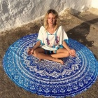 Polyester-Lotus-Flowers-Round-Yoga-Blanket-Mat-Breathable-Mandala-Wall-Hanging-Decor-Art-Picnic-Beach-Towel-Blanket-Blue