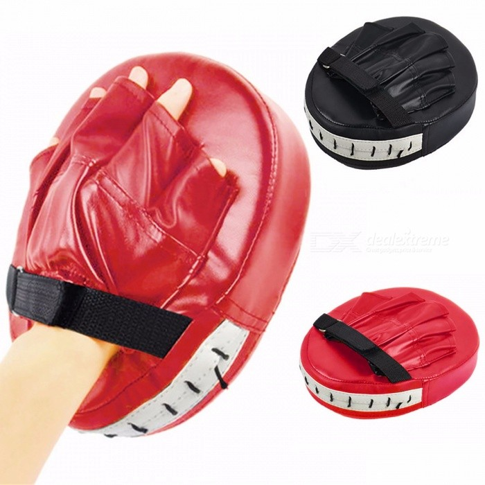 Boxing Gloves Pads Mitts for Muay Thai Kicking, MMA Training PU Foam Boxer Hand Target Sandbag Punch Pad Black