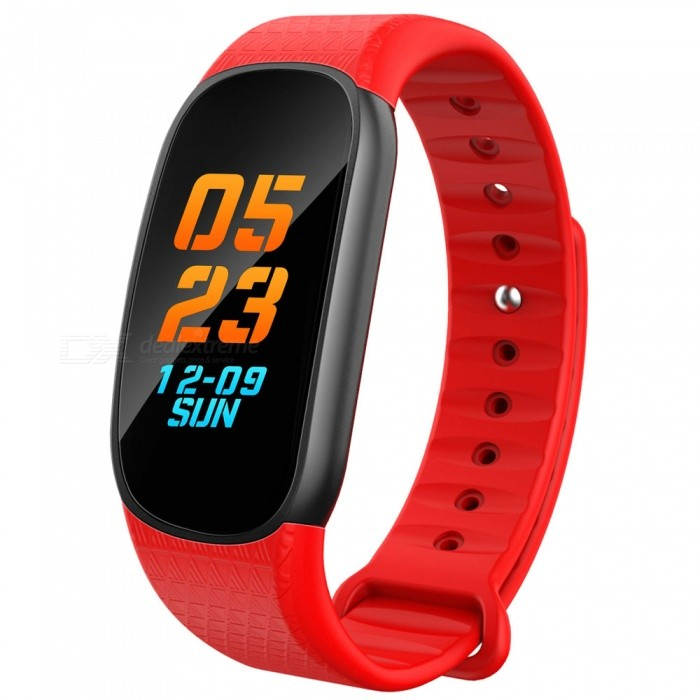0.96 Colorful Screen Waterproof Bluetooth Smart Band Bracelet with Heart Rate Blood Pressure Monitor - RedSmart Bracelets<br>ColorRedQuantity1 pieceMaterialPC + SiliconeWater-proofIP67Bluetooth VersionBluetooth V4.0Touch Screen TypeIPSCompatible OSAndroid 4.4 and above, IOS 9.0 and above, with Bluetooth 4.0Battery Capacity90 mAhBattery TypeLi-polymer batteryStandby Time3-7 daysPacking List1 x Smart Band1 x Charging Cable<br>