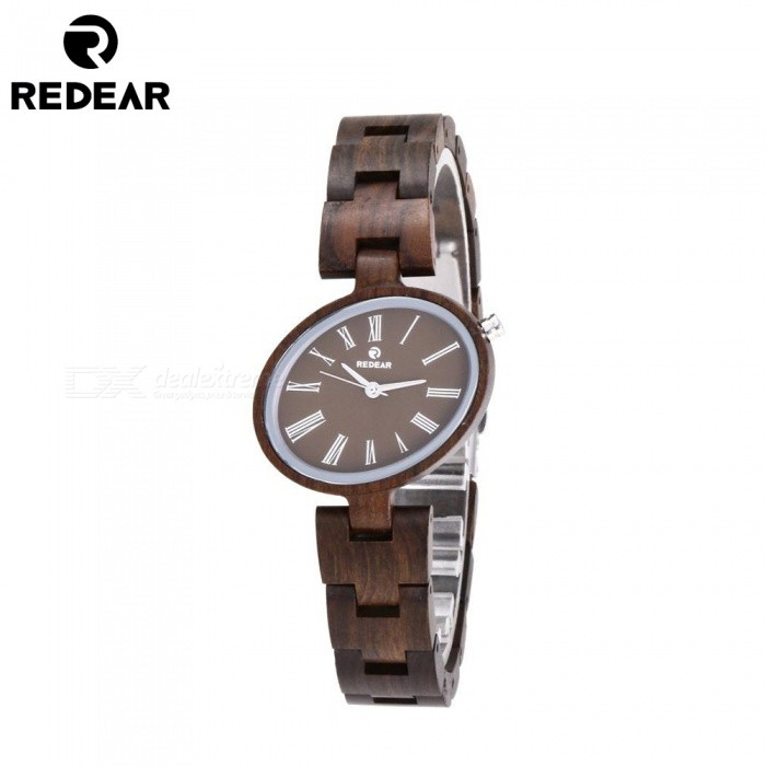 REDEAR 1680 Unique Fashion Wooden Watch with Wooden Band for Women - Walnut