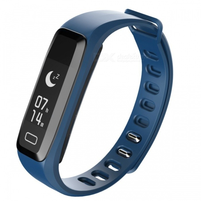 G15 Sports Smart Bracelet Watch Blood Pressure Heart Rate Monitoring IP67 Waterproof Remote Camera Function - Dark BlueSmart Bracelets<br>ColorNavy blueQuantity1 setMaterialPlastic + SiliconeShade Of ColorBlueWater-proofIP67Bluetooth VersionBluetooth V4.0Touch Screen TypeAMOLEDCompatible OSAndroid 4.0 or higher, iOS 7.1 and higherBattery Capacity50 mAhBattery TypeLi-polymer batteryStandby Time20 dayPacking List1 x Smart Bracelet 1 x Charging clip 1 x User Manual<br>