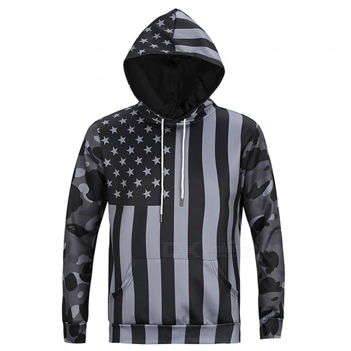 CTSmart L6019 Mens Cool US Flag Style Hooded Sweater Hoody Hoodie - Gray (3XL)Hoodies &amp; Sweatshirts<br>ColorgraySize3XLModelL6019Quantity1 pieceShade Of ColorGrayMaterialPolyester + cottonStyleSportsShoulder Width49 cmChest Girth116 cmWaist Girth116 cmSleeve Length64 cmTotal Length73 cmSuitable for Height185 cmPacking List1 x Sweater<br>