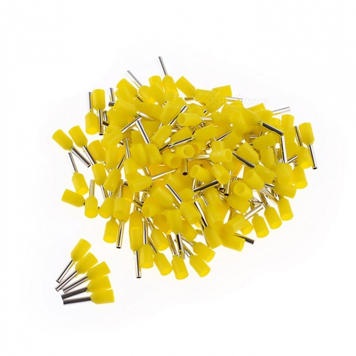 E0508 22AWG Insulated Ferrule Cord End Terminal Connector - Yellow (1000 PCS)DIY Parts &amp; Components<br>ColorYellowModelE0508Quantity1000 piecesMaterialPVC + CopperEnglish Manual / SpecNoOther FeaturesWire Range: 22A.W.G, 0.5mm?CertificationRoHS      ISO9001Packing List1000(+/-2 percent ) x Cord pin end terminals<br>