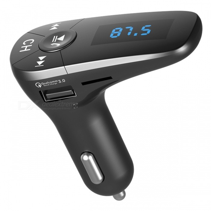Bluetooth Car Kit Handsfree Set with FM Transmitter, MP3 Music Player, USB Car ChargerBluetooth Car Kits<br>ColorBlackModelHBQ T10Quantity1 setMaterialABSFunctionOthers,Handsfree, MP3 Player, FM Transmitter, Power Off Memory function, A2DPCompatible CellphoneOthers,IPHONE, Motorola, Blackberry, LG, Sumsang, Nokia, SonyEricsson, HTCVoice Prompt LanguageOtherBluetooth VersionBluetooth V3.0Transmit Distance10 mMIC Effective Distance2-5 mFM Frequency Range87.5-108.0MHzFM Transmit Distance2-5 mCharging Voltage12-24 VInterface/PortOthers,USB 2.0, TF card slotPacking List1 x Bluetooth Car FM Transmitter Kit<br>