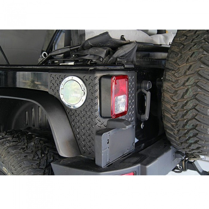 IZTOSS Special Accessories Decorative Tail Door License Plate Frame with Light for Jeep WranglerOther Exterior<br>ColorBlackModelAP2811Quantity1 setMaterialABS plasticCompatible MakeOthers,Jeep WranglerPacking List1 x License Plate Frame<br>