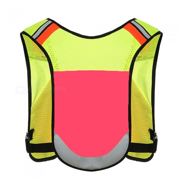 Ctsmart Multipurpose Outdoor Night Riding Running Vest Adjustable Reflective Vest - Deep Pink (One Size)ColorDeep PinkModelCTQQuantity1 pieceMaterialPolyester meshPacking List1 x Vest<br>
