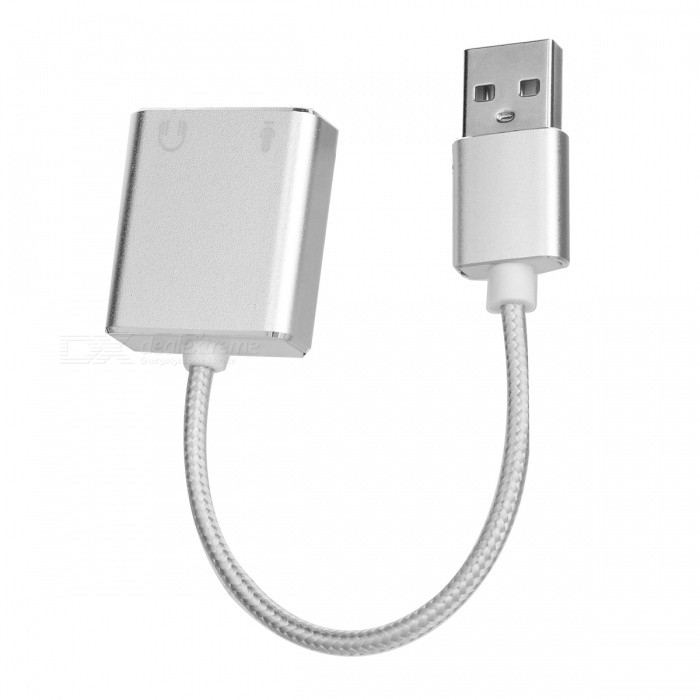 Buy BSTUO USB 2.0 7.1CH Aluminium Alloy USB Sound Card HIFI Magic Voice with Litecoins with Free Shipping on Gipsybee.com