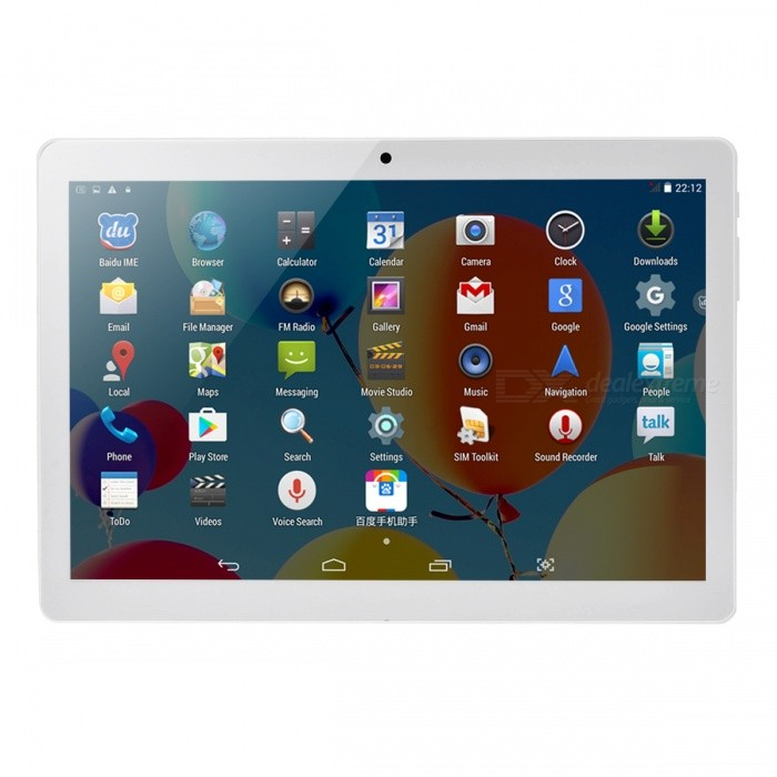 Y700 10.1 3G Android Tablet PC with 1GB RAM, 16GB ROM - SilverAndroid Tablets<br>ColorSilverBrandOthersModelIM962Quantity1 pieceMaterialFull Metal JacketProcessor BrandOthers,MTK6582Processor ModelOthers,MTK6582Processor Speed1.3 GHzNumber of CoresQuad CoreGPUMali-400MPRAM/Memory TypeDDR1 SDRAMBuilt-in Memory / RAM1GBCapacity / ROM16GBScreen Size10.1 inchesScreen Size9 inches~10.1 inchesScreen TypeIPSTouch TypeResistive screen,Capacitive screenResolution1920 x 1200Touch Point5-point Capacitive Touch Screen3G TypeWCDMACompatible ModelNO3G Frequency Range850,21003G Function3G Phone call,YesOperating SystemAndroid 6.02G Frequency Range850/900/1800/1900Supported NetworkBuilt-in 3G,2G Phone Call,Bluetooth,GPSGPSYesWi-Fi StandardIEEE 802.11 b/g/nBluetooth VersionBluetooth V4.0Built-in SpeakersYesInterface1 x 3.5mm,1 x micro USB,1 x TFGoogle Play(Android Market)YesCamera type2 x CamerasFront Camera Pixels0.3 MPBack Camera Pixels2.0 MPStorage InterfaceTFButtonSound,PowerExternal Memory Max. Support32 GBMicrophone JackYesPower AdapterEU PlugSupported LanguagesEnglish,French,German,Italian,Spanish,Portuguese,Russian,Vietnamese,Polish,Greek,Danish,Norwegian,Dutch,Arabic,Turkey,Japanese,Bahasa Indonesia,Korean,Thai,Maltese,Hungarian,Latin,Persian,Malay,Slovak,Czech,Romanian,Swedish,Finnish,Simplified Chinese,Traditional Chinese,Bulgarian,Norwegian,HebrewBattery Capacity5000 mAhBattery TypeLi-polymer batteryWorking Time8 hoursStandby Time3 daysPacking List1 x Tablet PC1 x Data line1 x OTG line1 x EU Plug charger1 x Instruction<br>