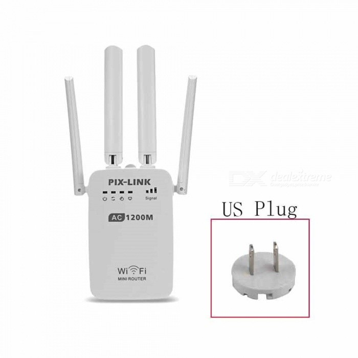 1200Mbps-Wireless-Wi-Fi-Router-Repeater-Adapter-White