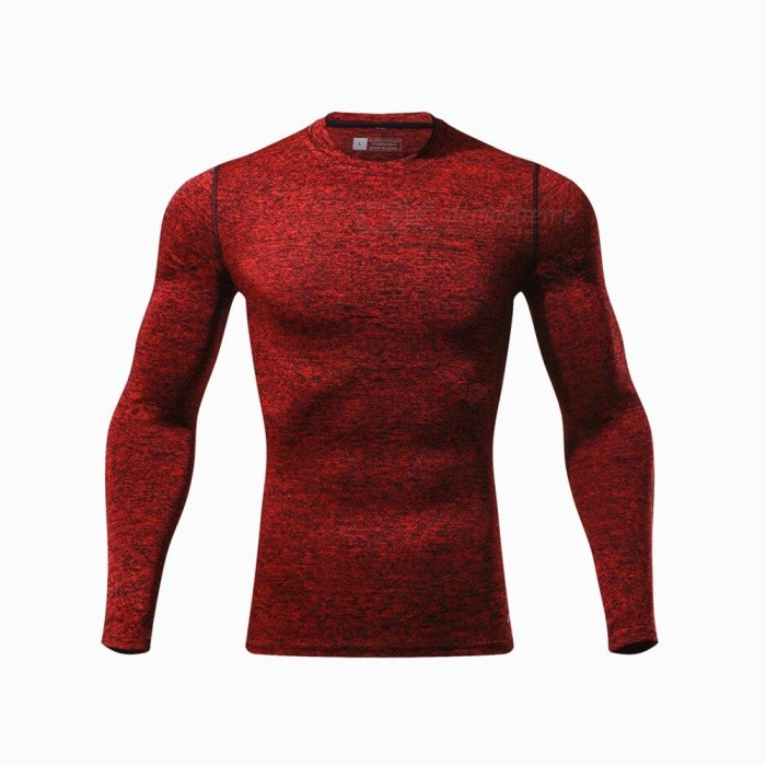 CTSmart L119 Summer New Tight-Fitting Fitness Long Sleeve Quick-Drying T-shirt - Red (M)Hoodies &amp; Sweatshirts<br>ColorredSizeMModelL119Quantity1 pieceShade Of ColorRedMaterialPolyester + spandexStyleSportsShoulder Width43 cmChest Girth86 cmWaist Girth86 cmSleeve Length67.5 cmTotal Length65 cmSuitable for Height165 cmPacking List1 x Quick-drying Clothes T-shirt<br>