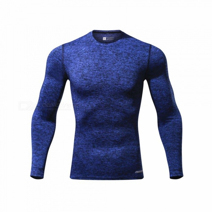 CTSmart L119 Summer New Tight-Fitting Fitness Long Sleeve Quick-Drying T-shirt - Dark Blue (M)Hoodies &amp; Sweatshirts<br>ColorDark blueSizeMModelL119Quantity1 pieceShade Of ColorBlueMaterialPolyester + spandexStyleSportsShoulder Width43 cmChest Girth86 cmWaist Girth86 cmSleeve Length67.5 cmTotal Length65 cmSuitable for Height165 cmPacking List1 x Quick-drying Clothes T-shirt<br>