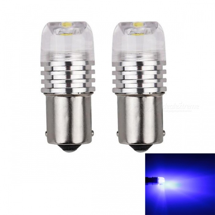 JRLED 1156 BA15S P21W 3W Blue Light COB LED Stopligh, Automobile Brake Light Taillight (2 PCS / DC12V)Tail Lights<br>Emitting ColorBlueModel1156 LEDQuantity2 piecesMaterialAluminum alloy and acrylicPower3 WWorking VoltageDC12VConnectorOthers,1156Bulb SpecificationCOBBrightness90LmColor BIN460nmApplicationSide Turn Signals Bulb,Rear Turn Signals Bulb,Brake BulbCertificationCE ROHSOther FeaturesThis product uses all aluminum alloy heat dissipation, waterproof COB light source, concave lens with uniform luminescence.Packing List2 x 1156 LED Lamps<br>