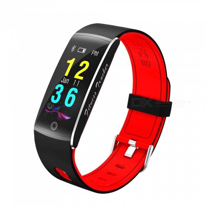 F10 IP68 Waterpoof 0.96 Smart Bracelet with Caller Reminder, Heart Rate Blood Pressure Monitor - RedSmart Bracelets<br>ColorRedQuantity1 setMaterialABSWater-proofIP68Bluetooth VersionBluetooth V4.0Touch Screen TypeYesCompatible OSAndroid 4.4&amp; above ,iOS 7.1 &amp; aboveBattery Capacity90 mAhBattery TypeLi-polymer batteryStandby Time5-7 daysPacking List1 x F10 Smart Wristband1 x Charging Cable1 x User Manual<br>