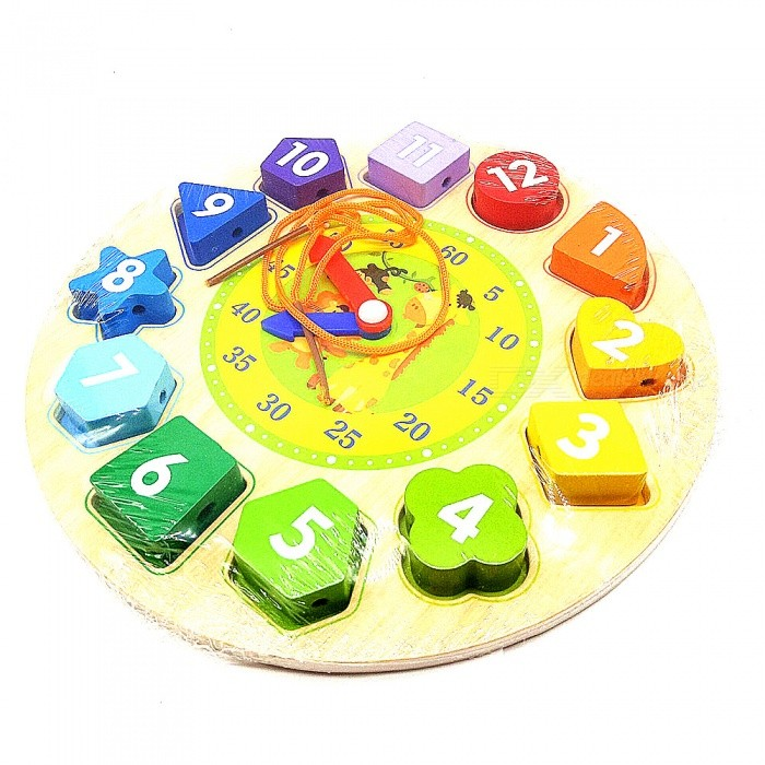 New Design Circular Clock Shape Wooden Educational Toy for Kids