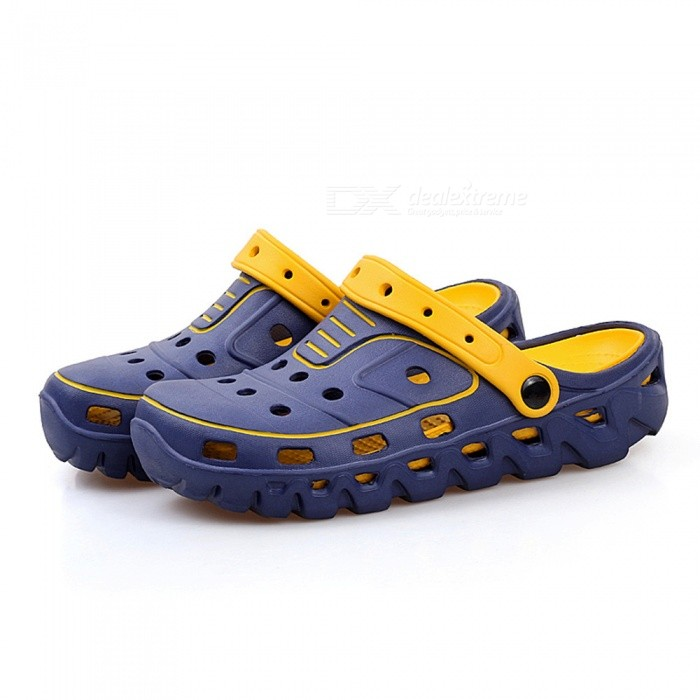 CTSmart 699 Mens Non-Slip Beach Shoes - Blue (42)Shoes<br>ColorblueSize42Model699Quantity1 setShade Of ColorBlueMaterialEVAStyleSportsFoot Length26 cmFoot Girth10-15 cmHeel Height2 cmPacking List1 x Pairs of Shoes<br>