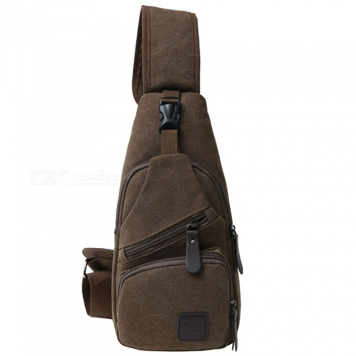 STIUCCE 502 Canvas Sling Shoulder Bag Backpack, Crossbody Chest Rucksack for Sports Travel - Dark CoffeeColorDark CoffeeModel502Quantity1 pieceMaterialCanvasTypeCasualSizeOthers,16x7x32cmCapacity5LCapacity RangeCapacity RangeRaincover includedNoGenderUnisexBest UseTravelPacking List1 x Backpack<br>