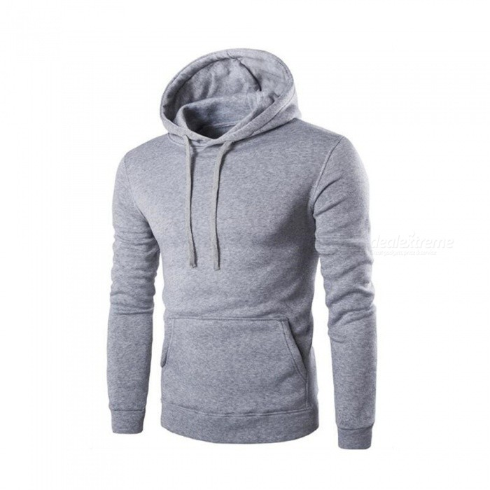 CTSmart 1366-WY14 Mens Casual Fleece Sweatshirt Hoodie - Light Gray (2XL)Hoodies &amp; Sweatshirts<br>ColorLight graySizeXXLModel1366-WY14Quantity1 pieceShade Of ColorGrayMaterialCotton + polyester cottonStyleSportsShoulder Width45 cmChest Girth110 cmWaist Girth110 cmSleeve Length64 cmTotal Length65 cmSuitable for Height185 cmPacking List1 x Hoodie<br>
