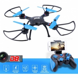 DWI Dowellin D8 HD FPV Wi-Fi RC Helicopter Quadcopter Drone with 1.0MP 720P Camera, 2.4G Altitude Hold - Black + Blue
