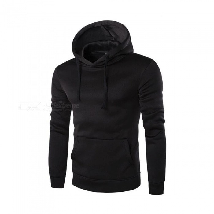 CTSmart 1366-WY14 Mens Casual Fleece Sweatshirt Hoodie - Black (2XL)Hoodies &amp; Sweatshirts<br>ColorBlackSizeXXLModel1366-WY14Quantity1 pieceShade Of ColorBlackMaterialCotton + polyester cottonStyleSportsShoulder Width45 cmChest Girth110 cmWaist Girth110 cmSleeve Length64 cmTotal Length65 cmSuitable for Height185 cmPacking List1 x Sweater<br>