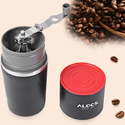 ALOCS CW-K16 Outdoor Tableware Portable Coffee Maker 4 in 1 Stainless Steel Camping Manual Easy Coffee Grinder Camping Tableware