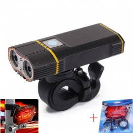Super Bright Bicycle Light USB Rechargeable 2000LM Headlight Front Light Easy Installation Cycling Flashlight for Safty Riding