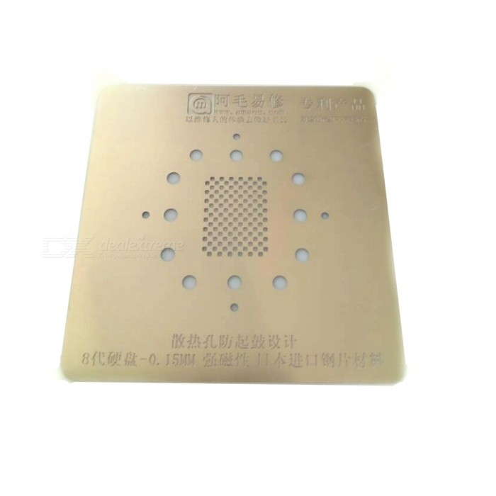 High Precision 0.15mm Groove Tin Steel NAND BGA Reballing Stencil Template Net BGA IC Chipset Repair Tool For IPHONE X 8 8POther Tools<br>ColorGoldenQuantity1 DX.PCM.Model.AttributeModel.UnitMaterialMetalPacking List1 x Tool<br>