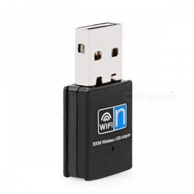 BSTUO 802.11n/b/g 2.4GHz Wireless Wi-Fi Receiver Adapter, 300Mbps USB Network Card