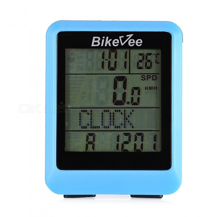 Multi-Function Wireless Waterproof Bike Stopwatch - BlueBike Computer<br>ColorblueQuantity1 pieceMaterialABSScreen Size5.842 cmBattery TypeCR2032 batteryBattery Number1Battery included or notYesWaterproofYesBacklightnoPacking List1 x Stopwatch1 x Magnet1 x Base1 x Apron 1 x English manual1 x CR2032 Battery1 x Sensor (1 x CR2032 battery is required)2 x Patches4 x Cable ties<br>