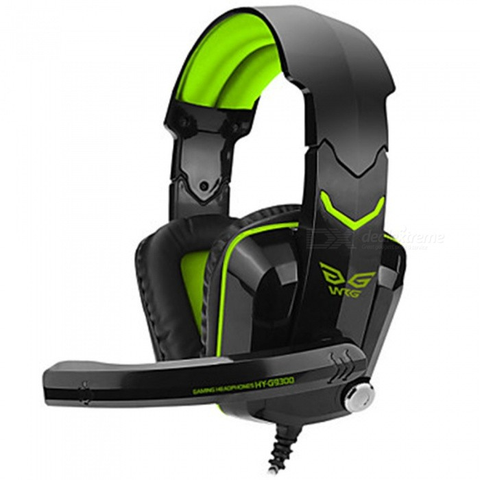 Portable Luminous 3.5mm Wired Noise-Cancelling Gaming Headphone with Microphone, Volume Control - GreenHeadphones<br>ColorGreenBrandOthers,N/AMaterialABSQuantity1 DX.PCM.Model.AttributeModel.UnitConnection3.5mm WiredBluetooth VersionNoHeadphone StyleHeadbandWaterproof LevelOthersApplicable ProductsOthers,Computer gamesHeadphone FeaturesGame HeadsetSupport Memory CardNoSupport Apt-XNoPacking List1 x Headset<br>