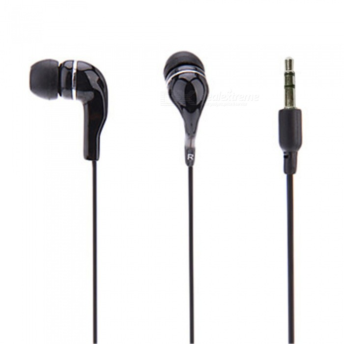 OJADE In-Ear 3.5mm Wired Dynamic Plastic Mobile Phone Earphone - Black