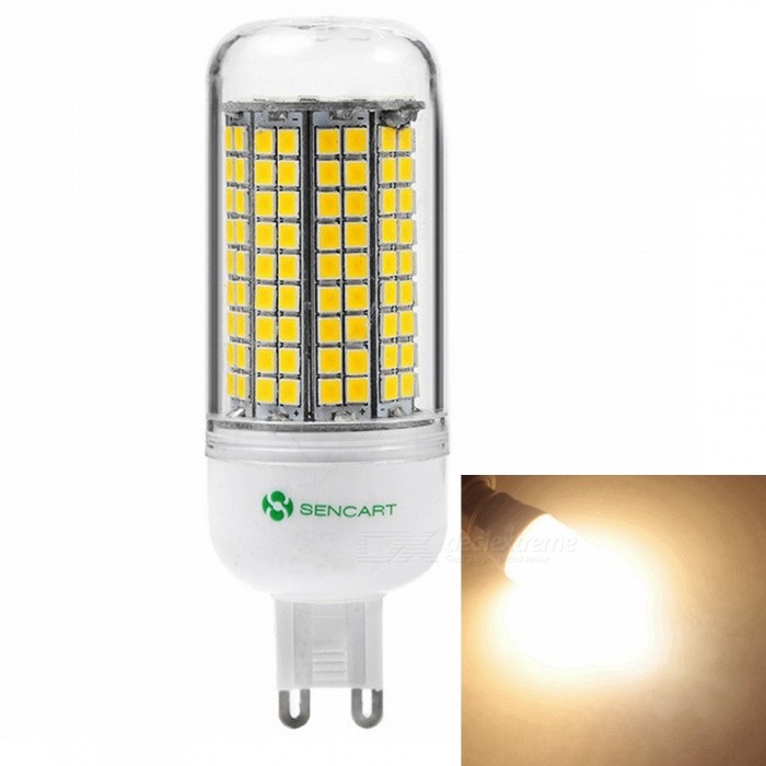 Sencart G9 8W 800LM SMD Warm White Energy Saving LED Light Blub Lamp, AC110V-130VG9<br>Emitting ColorWarm WhitePower SupplyAC110V-130VModel180 LEDMaterialABS+LED+PCBForm  ColorWhiteQuantity1 piecePower8WRated VoltageAC 110-130 VConnector TypeG9Chip BrandEpistarChip Type2835Emitter TypeOthers,2835SMDTotal Emitters180Theoretical Lumens1200 lumensActual Lumens800 lumensColor Temperature3000KDimmableNoBeam Angle360 °Packing List1 x LED Light Blub<br>